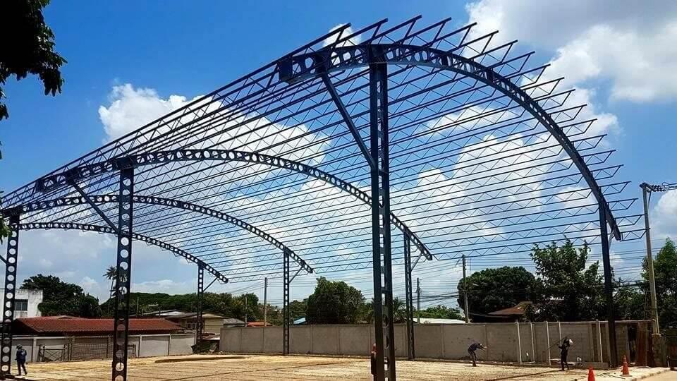 เซลลูล่าร์บีม - cellular beam อาคารอนเอกประสงค์ สนามฟุตบอลในร่ม ขนาด20x35ม. ปากช่อง นครราชสีมา