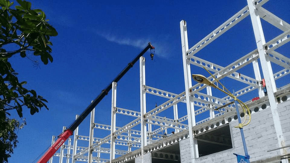 ราคาโครงสร้างเหล็ก เซลลูล่าร์ บีม / cellular beam กาญจนบุรี